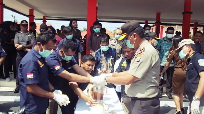 Ekstasi dan Sabu Polisi Riau Blender Pesta Tahun Baru