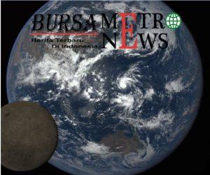 Satelit Ini Ambil Citra Bulan Saat Melintas Depan Bumi