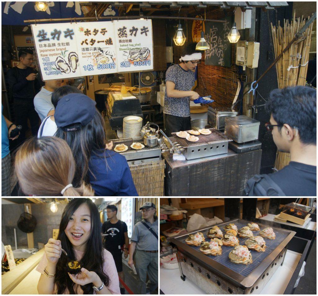 Hunting makanan di Pasar Ikan Tsukiji