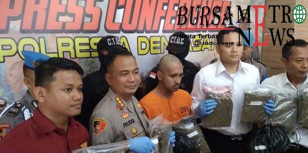 Buruh Bangunan Nyambi Edarkan Ganja Ditangkap Polisi di Badung Bali
