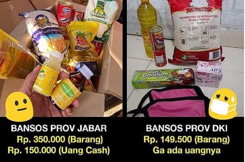 Bandingkan Paket Sembako Jakarta Dan Jabar