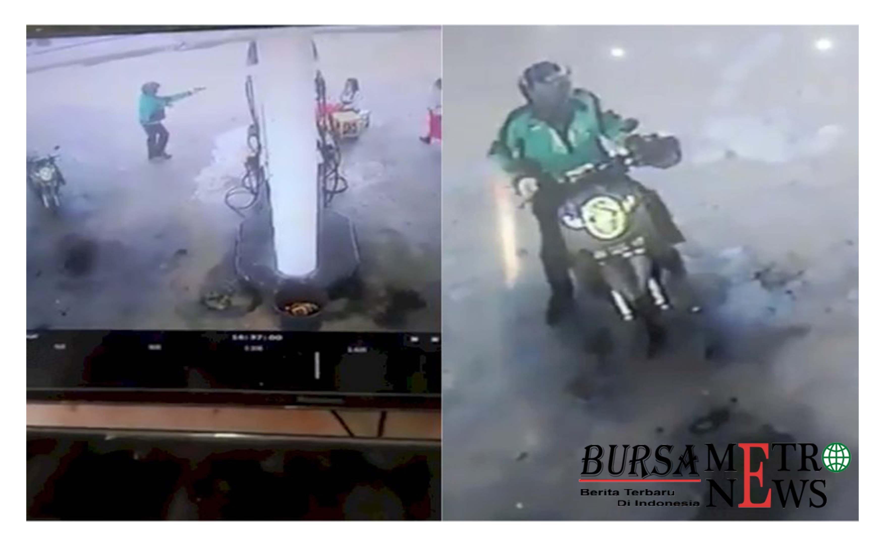 Pria Berjaket Ojek Online Todongkan Pistol di SPBU