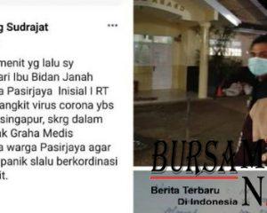TKI Asal Karawang Pulang dari Singapura Terindikasi Corona Hoaks